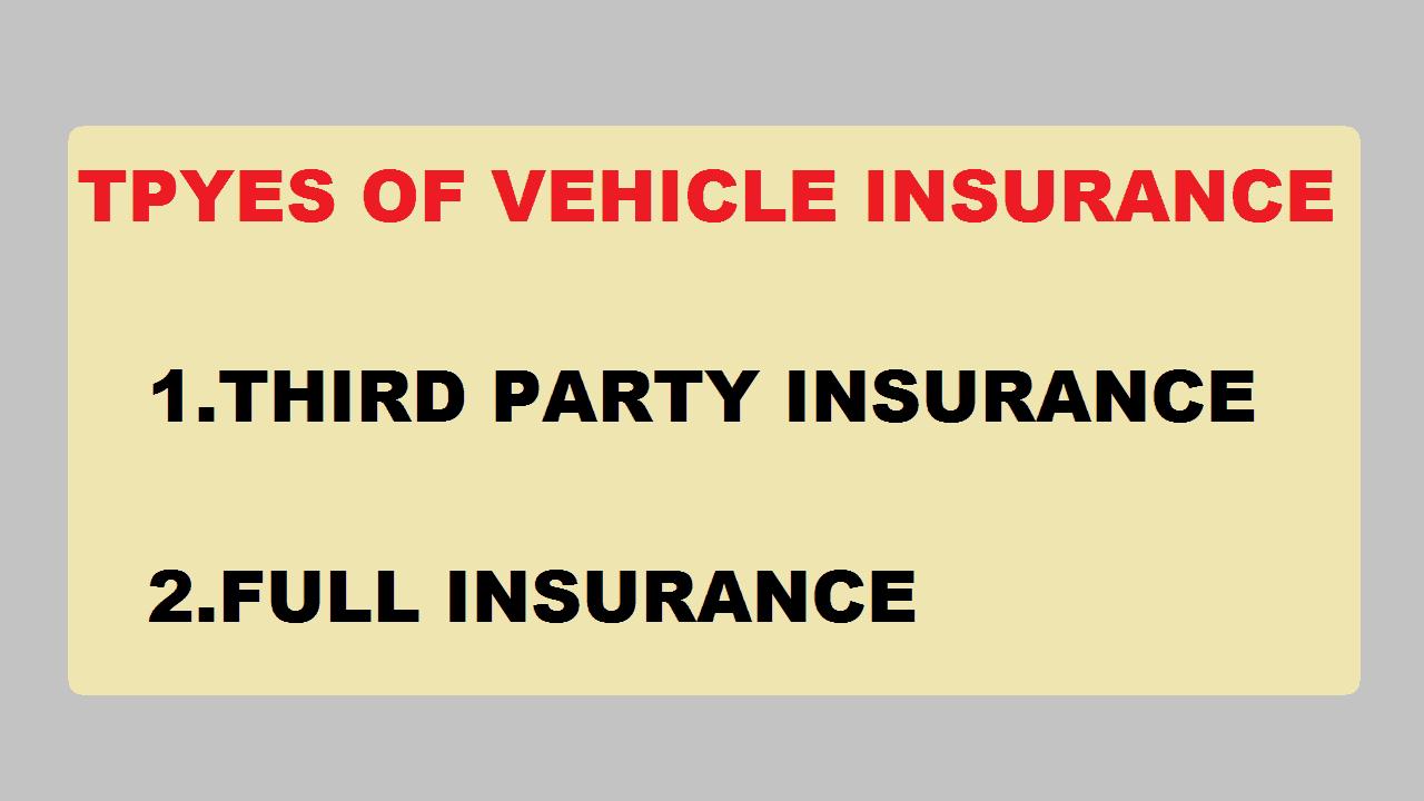 Types of Vehicle Insurance