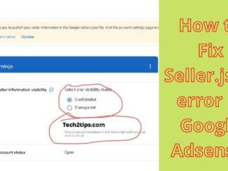 How to Fix Seller.json File error in Google Adsense