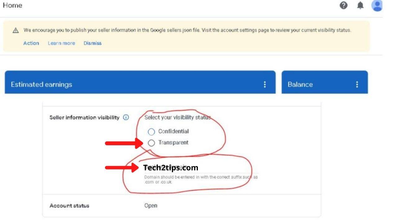How to solve Seller.json in Google Adsense